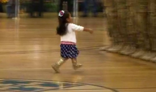 hug2.jpg A video of a young girl running to her father during a homecoming ceremony for the 3rd Armored Brigade Combat Team has melted the hearts of Facebook users. The girl, wearing sparkling gold boots and a US-flag inspired dress, couldn't wait to hug her father, Lt. Daniel Ogelsby, in Fort Carson, Colorado, on Tuesday. Approximately 55 Fort Carson soldiers from the brigade had returned from Southwest Asia, reported The Gazette.