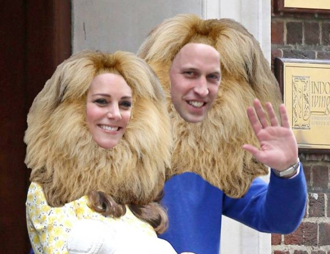 DO NOT PUT TO WEB - SEE EDD/CHRISTIAN Mandatory Credit: Photo by REX Shutterstock (5224940d) William and Kate with a Leon the Lion hairstyle Compilation Lion Haistyles - Oct 2015