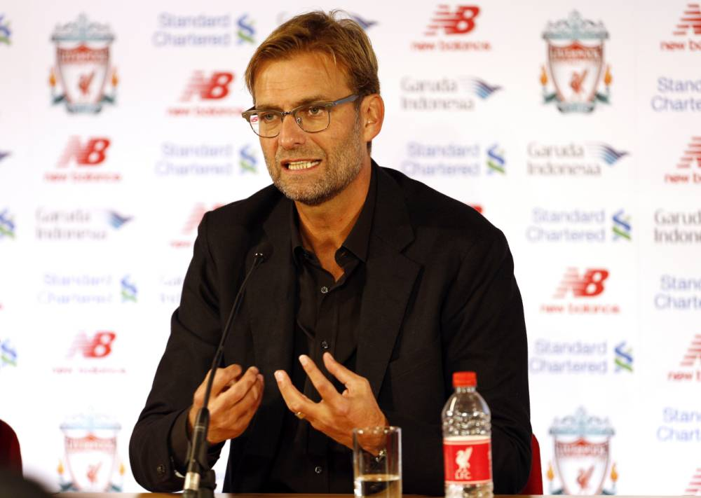 Football - Liverpool - Jurgen Klopp Press Conference - Anfield - 9/10/15 New Liverpool manager Jurgen Klopp during the press conference Action Images via Reuters / Craig Brough Livepic EDITORIAL USE ONLY.