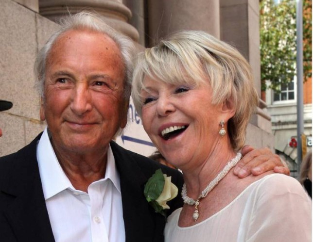 Mandatory Credit: Photo by REX Shutterstock (1444448c) Michael Winner and Geraldine Lynton Edwards The wedding of Michael Winner and Geraldine Lynton-Edwards, Chelsea Registry Office, London, Britain - 19 Sep 2011
