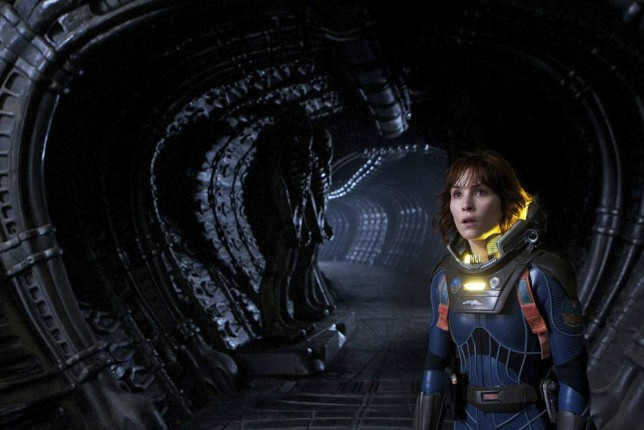 Prometheus saw Noomi Rapace's character Dr Elizabeth Shaw struggle for survival (Picture: 20th Century Fox)