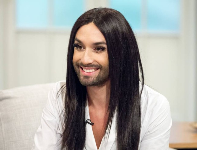EDITORIAL USE ONLY. NO MERCHANDISING Mandatory Credit: Photo by Ken McKay/ITV/REX Shutterstock (5226682by) Conchita Wurst 'Lorraine' ITV TV Programme, London, Britain - 12 Oct 2015 CONCHITA WURST - The bearded Eurovision star chats to Lorraine about what life has been like since winning the famous competition in 2014, as well as continued charity work and struggle for gay rights.
