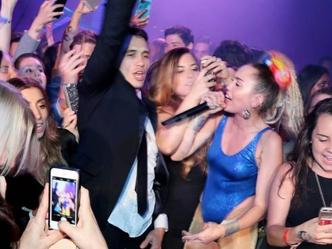 Miley Cyrus helped James Franco celebrate his bar mitzvah in a very Miley way