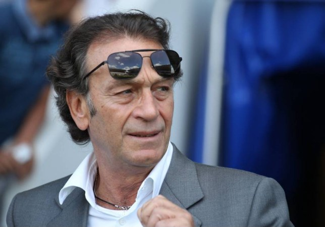 Mandatory Credit: Photo by Matthew Impey/REX Shutterstock (4072810h) Massino Cellino the Leeds United chairman/owner before the game. Millwall v Leeds United, Sky Bet Championship Football, The Den, London, Britain - 09 Aug 2014