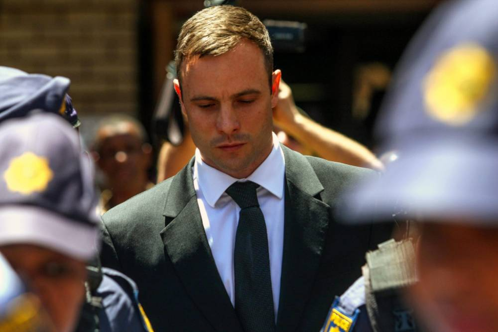 epa04984620 (FILE) A file picture dated 17 October 2014 shows South African Olympic and Paralympic athlete Oscar Pistorius leaving the High Court in Pretoria, South Africa. Pistorius was released under house arrest on late 19 October 2015 after serving one year in prison for shooting dead his girlfriend, a spokesman for South Africa's prisons department said. He will be staying at his uncle's home in the upmarket suburb of Waterkloof in the south of Pretoria, media reported. The Paralympian athlete was due to be released on 20 October 2015, but the management of Kgosi Mampuru II prison in Pretoria said the athlete was placed under house arrest 'in the interests of all concerned.' Pistorius fired four shots at Reeva Steenkamp through a locked toilet door at his home in Pretoria in the early hours of Valentine's Day 2013. She died at the scene. He claimed he thought she was a burglar. He was found guilty of culpable homicide and sentenced on 21 October 2014, after a trial that last lasted more than seven months and attracted worldwide attention. On 03 November 2015, South Africa's Supreme Court of Appeals will hear arguments from the State on whether the verdict against Pistorius, 28, should be changed from culpable homicide to murder. If the supreme court of appeal rules in their favor, Pistorius could be sent back to his cell at Kgosi Mampuru II prison for a minimum of 15 years. EPA/KEVIN SUTHERLAND