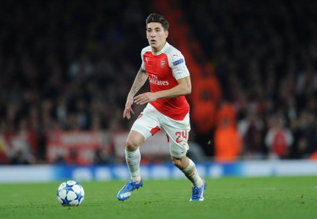 LONDON, ENGLAND - OCTOBER 20: Hector Bellerin of Arsenal during the UEFA Champions League match between Arsenal and Bayern Munich on October 20, 2015 in London, United Kingdom. (Photo by David Price/Arsenal FC via Getty Images)