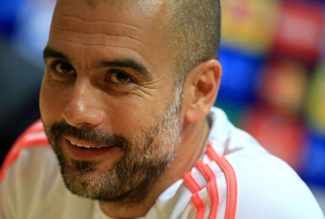 """File photo dated 19-10-2015 of Bayern Munich coach Pep Guardiola during the press conference at the Emirates Stadium, London. PRESS ASSOCIATION Photo. Issue date: Wednesday October 21, 2015. Bayern Munich boss Pep Guardiola has promised Arsenal fans they will pay a """"good price"""" for tickets in November's Champions League return in Bavaria. See PA story SOCCER Arsenal Tickets. Photo credit should read John Walton/PA Wire."""