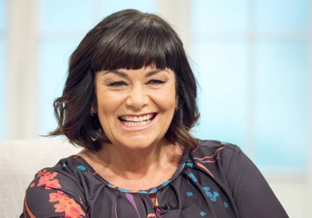EDITORIAL USE ONLY. NO MERCHANDISING  Mandatory Credit: Photo by Ken McKay/ITV/REX Shutterstock (5288166aq)  Dawn French  'Lorraine' ITV TV Programme, London, Britain - 22 Oct 2015  DAWN FRENCH-  The irrepressible comedienne joins Lorraine to talk about her west end one woman show  '30 Million Minutes'  and her new book  'According to Yes'