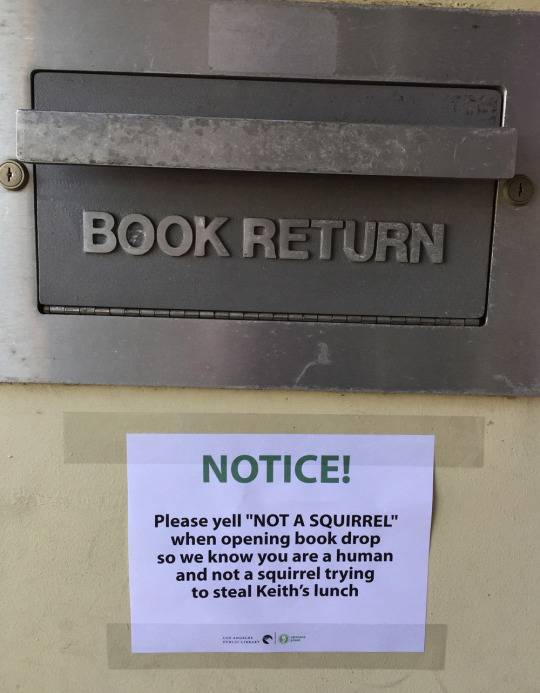 Library plagued by pranksters sticking up rude messages by their book drop-offs