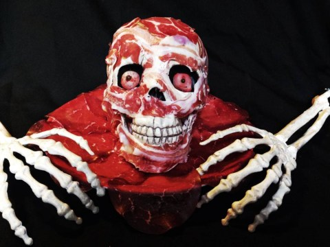 Halloween party recipe: You can make this edible meat skull at home
