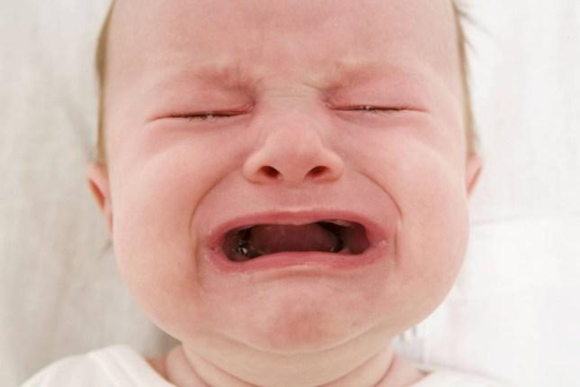Baby Girl Crying Becuase of Teething