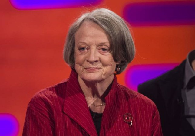 Dame Maggie Smith during filming of the Graham Norton Show at the London Studios, south London. PRESS ASSOCIATION Photo. Picture date: Sunday October 11, 2015. Photo credit should read: Matt Crossick/PA Images on behalf of So TV