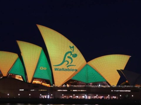 Australia turn Sydney Opera House green and gold as Wallabies prepare for Rugby World Cup final clash with New Zealand