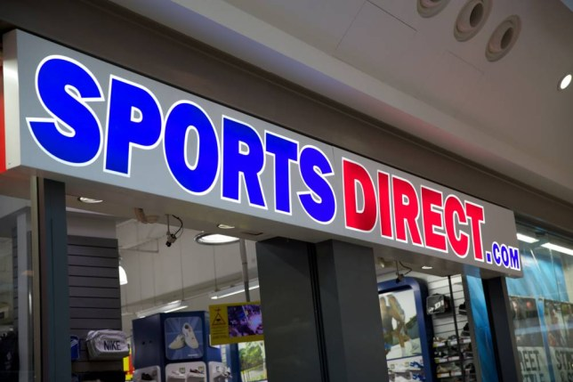 "Sports Direct retail sign. Billionaire Mike Ashley is today revealed as the biggest employer to use the soon-to-be illegal ""zero hour"" contracts that potentially stop the 20,000 part-time staff at his retail empire getting a second job. The policy was described as unfair and exploitative by MPs and campaigners and means 90 per cent of workers at his Sports Direct stores have no guaranteed working hours and must seek permission from management to work elsewhere."
