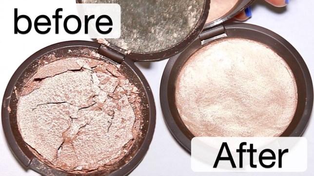 How to fix broken face powder