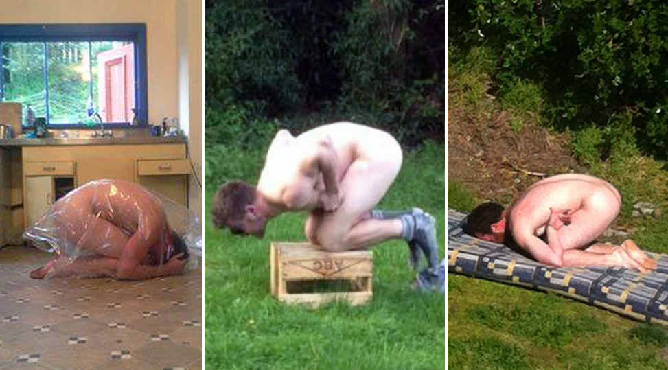 Frozenchook People are stripping naked and posing like frozen chickens