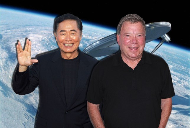 William Shatner and George Takei Credit: Rex
