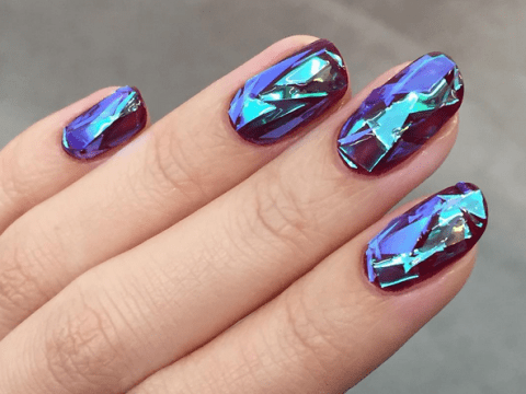 Broken glass nails are the latest nail art trend you need to try