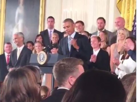 Barack Obama tells US Women's football team what it actually means to play like a girl