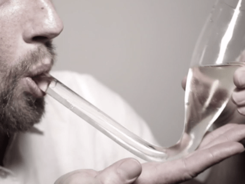 Behold: the champagne bong, for when you're feeling fancy