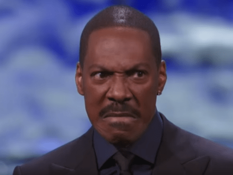 Eddie Murphy takes a swipe at Bill Cosby while accepting his Mark Twain Prize