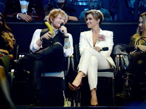 MTV EMAs: Ed Sheeran invited co-host Ruby Rose to play 'hide the banana'