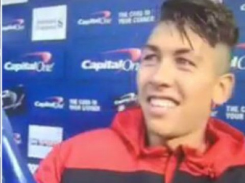 Liverpool star Roberto Firmino can't actually believe he's allowed to keep Man of Match champagne