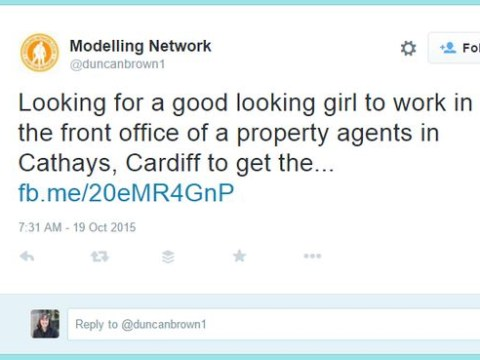 This job advert for a 'good looking girl' did not go down well