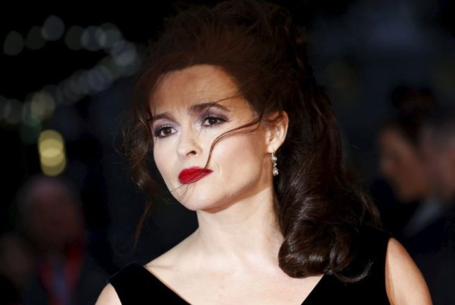 """Actress Helena Bonham-Carter arrives for the Gala screening of the film """"Suffragette"""" for the opening night of the British Film Institute (BFI) Film Festival at Leicester Square in London October 7, 2015. REUTERS/Luke MacGregor"""