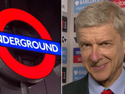 Arsenal boss Arsene Wenger is doing tube announcements at Tottenham station for London Poppy Day