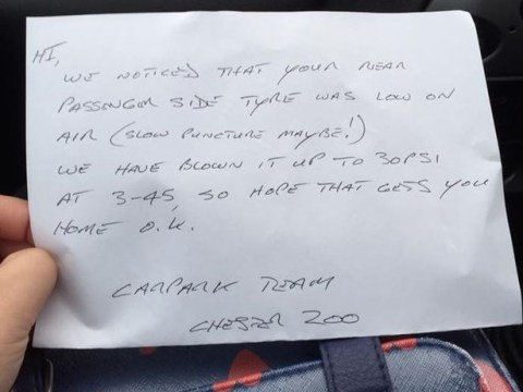 Everyone's loving Chester Zoo car park team for this act of kindness