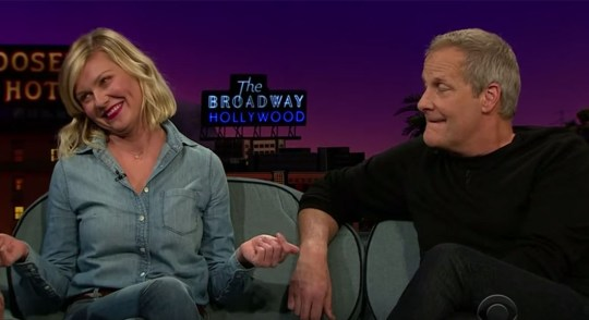 Kirsten Dunst The Late Late Show