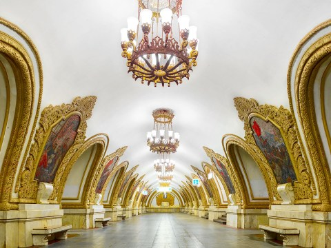 Russian train stations are basically super bling palaces