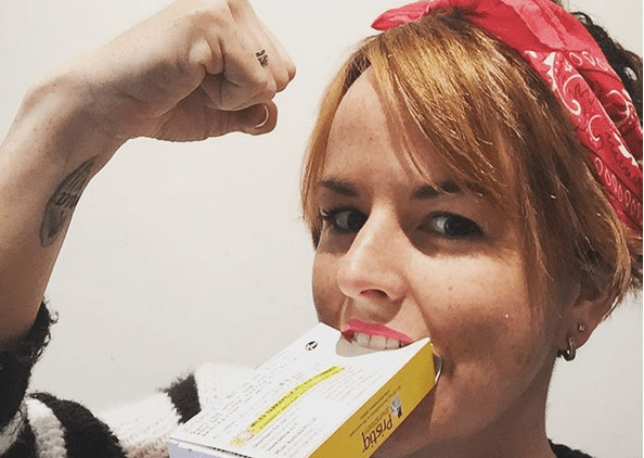 woman with medication fighting stigma against mental illness