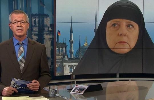 Angela Merkel 'muslim' mockup