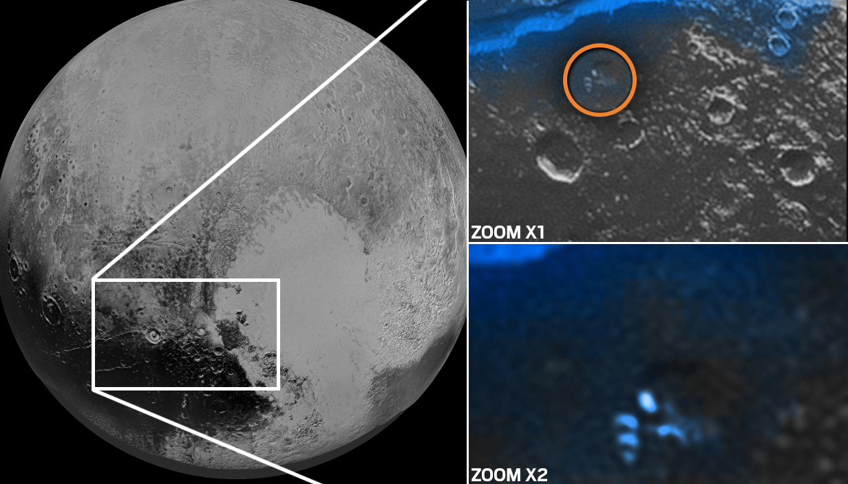 Giant 'alien ship' spotted on Pluto sOURCE nasa