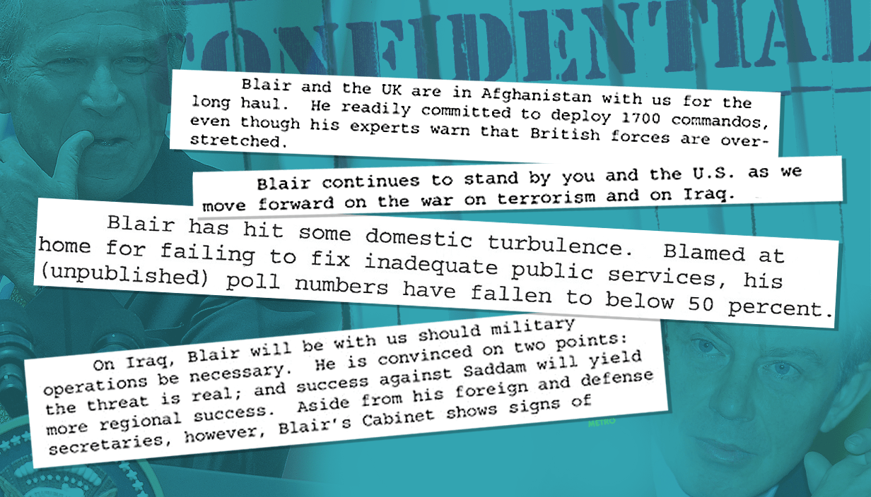 Leaked memo says Blair was gunning for war a year before invasion Source: PA / Getty Images Credit: METRO/mylo