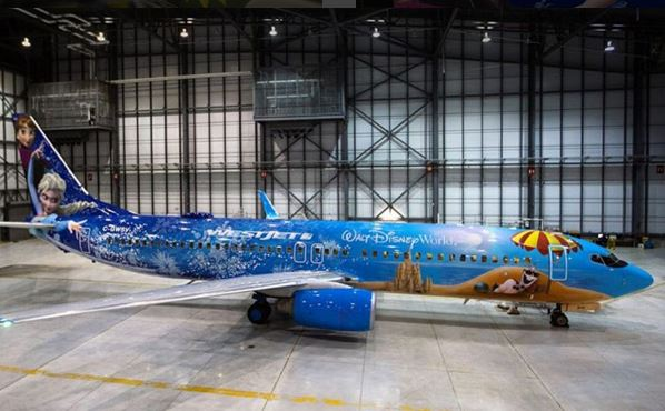 There's a Frozen-themed plane – stop the world, we want to get off