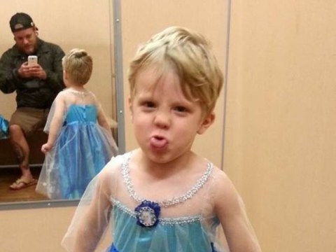 Proud dad is totally on board with son's decision to dress as Princess Elsa this Halloween