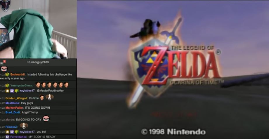 This guy perfectly completed Zelda Ocarina Of Time while totally blindfolded