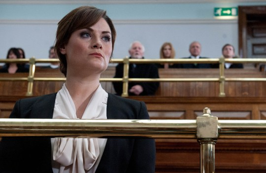 FROM ITV STRICT EMBARGO - No Use Before Tuesday 24 November 2015 Emmerdale - Ep 7361 Thursday 3 December 2015 - 1st Ep Pollard [CHRIS CHITTELL] heads to court as Nikhil arrives and frees David but is he too late? Chrissie White [LOUISE MARWOOD] found not guilt so an incensed Pollard does his best to wreak his revenge.  Picture contact: david.crook@itv.com on 0161 952 6214 Photographer - Amy Brammall This photograph is (C) ITV Plc and can only be reproduced for editorial purposes directly in connection with the programme or event mentioned above, or ITV plc. Once made available by ITV plc Picture Desk, this photograph can be reproduced once only up until the transmission [TX] date and no reproduction fee will be charged. Any subsequent usage may incur a fee. This photograph must not be manipulated [excluding basic cropping] in a manner which alters the visual appearance of the person photographed deemed detrimental or inappropriate by ITV plc Picture Desk. This photograph must not be syndicated to any other company, publication or website, or permanently archived, without the express written permission of ITV Plc Picture Desk. Full Terms and conditions are available on the website www.itvpictures.com