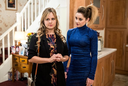 FROM ITV STRICT EMBARGO - No Use Before Tuesday 1 December 2015 Coronation Street - Ep 8791 Friday 11 December 2015 - 1st Ep Sarah Platt [TINA O'BRIEN] clearly in turmoil and Kylie Platt [PAULA LANE] is suspicious. Kylie rifles through Sarah's handbag and finds the name of the abortion clinic. Confronting Sarah, Kylie asks her if she's pregnant. Will Sarah reveal the truth? Picture contact: david.crook@itv.com on 0161 952 6214 Photographer - Joseph Scanlon This photograph is (C) ITV Plc and can only be reproduced for editorial purposes directly in connection with the programme or event mentioned above, or ITV plc. Once made available by ITV plc Picture Desk, this photograph can be reproduced once only up until the transmission [TX] date and no reproduction fee will be charged. Any subsequent usage may incur a fee. This photograph must not be manipulated [excluding basic cropping] in a manner which alters the visual appearance of the person photographed deemed detrimental or inappropriate by ITV plc Picture Desk. This photograph must not be syndicated to any other company, publication or website, or permanently archived, without the express written permission of ITV Plc Picture Desk. Full Terms and conditions are available on the website www.itvpictures.com