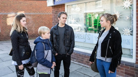 FROM ITV STRICT EMBARGO - No Use Before Tuesday 24 November 2015 Coronation Street - Ep 8784 Monday 30 November 2015 David Platt [JACK P SHEPHERD] urges her to go back to Milan before she cracks up. Sarah Platt [TINA O'BRIEN] angrily snaps that she won't let David dictate her life before letting rip to Kylie Platt [PAULA LANE], issuing her with a stark warning about David? Picture contact: david.crook@itv.com on 0161 952 6214 Photographer - Joseph Scanlon This photograph is (C) ITV Plc and can only be reproduced for editorial purposes directly in connection with the programme or event mentioned above, or ITV plc. Once made available by ITV plc Picture Desk, this photograph can be reproduced once only up until the transmission [TX] date and no reproduction fee will be charged. Any subsequent usage may incur a fee. This photograph must not be manipulated [excluding basic cropping] in a manner which alters the visual appearance of the person photographed deemed detrimental or inappropriate by ITV plc Picture Desk. This photograph must not be syndicated to any other company, publication or website, or permanently archived, without the express written permission of ITV Plc Picture Desk. Full Terms and conditions are available on the website www.itvpictures.com