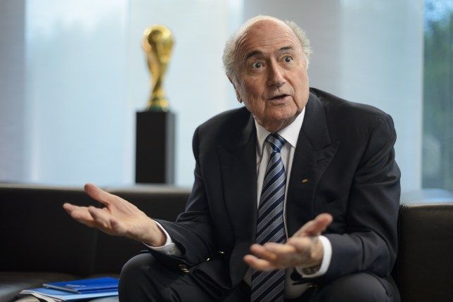 President of International governing body of association football FIFA Sepp Blatter gestures during an interview on May 15, 2015 at the of organization's headquarters in Zurich. AFP PHOTO / FABRICE COFFRINI (Photo credit should read FABRICE COFFRINI/AFP/Getty Images)
