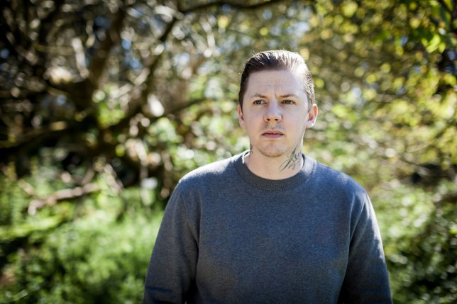 Programme Name: Professor Green: Suicide and Me - TX: 27/10/2015 - Episode: Professor Green: Suicide and Me (No. n/a) - Picture Shows: Stephen Manderson - (C) Antidote Productions - Photographer: Duncan Stingemore