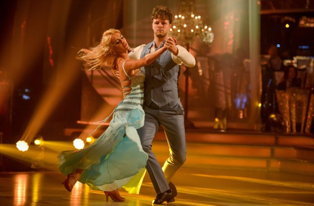 WARNING: Embargoed for publication until 20:10:01 on 14/11/2015 - Programme Name: Strictly Come Dancing 2015 - TX: 14/11/2015 - Episode: n/a (No. n/a) - Picture Shows: **DRESS REHEARSAL** EMBARGOED FOR PUBLICATION UNTIL 20:10 HRS ON SATURDAY 14TH NOVEMBER 2015 Aliona Vilani, Jay McGuiness - (C) BBC - Photographer: Kieron McCarron