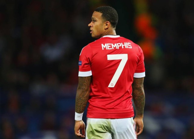 Memphis Depay of Manchester United looks on during the UEFA Champions League Qualifying Round Play Off First Leg match between Manchester United and Club Brugge at Old Trafford on August 18, 2015 in Manchester, England. (Photo by Alex Livesey/Getty Images)