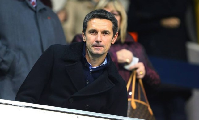 LONDON, ENGLAND - NOVEMBER 02: Remi Garde manager of Aston Villa takes his seat in the stands before the Barclays Premier League match between Tottenham Hotspur and Aston Villa at White Hart Lane on November 2, 2015 in London, England. (Photo by Catherine Ivill - AMA/Getty Images)