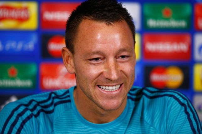 COBHAM, ENGLAND - NOVEMBER 03: John Terry of Chelsea faces the media during a Chelsea press conference, ahead of the UEFA Champions League Group G match between Chelsea and Dynamo Kiev, at Chelsea Training Ground on November 3, 2015 in Cobham, England. (Photo by Mike Hewitt/Getty Images)