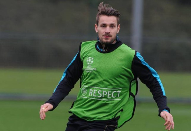 ST ALBANS, ENGLAND - NOVEMBER 03: Mathieu Debuchy of Arsenal during a training session at London Colney on November 3, 2015 in St Albans, England. (Photo by Stuart MacFarlane/Arsenal FC via Getty Images)